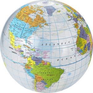 Globe wereldbol strandbal